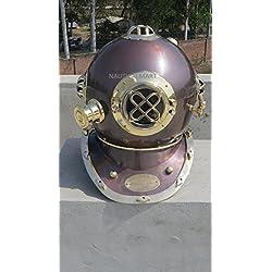 NauticalMart Vintage Antique 45,7cm plongée casque de plongeurs U.S. Navy Mark V casque de plongée