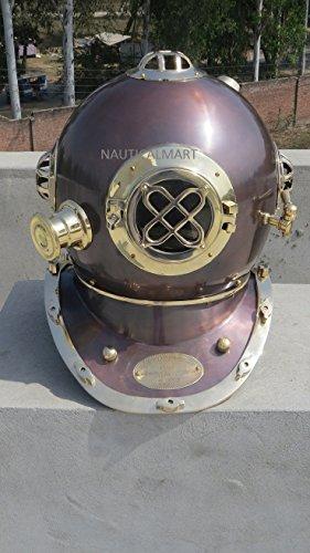 Vintage Antik 45,7cm Tauchen Taucher Helm US Navy Mark V (Sea Kostüm Diver)