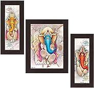 Wens 'Ganesha Indian Deity' Wall Art (MDF, 30 cm x 34 cm x 1.5 cm, W