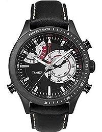 04675e57e4eecb Timex Orologio Cronografo al Quarzo Uomo con Cinturino in Pelle TW2P72600