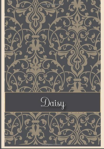 Daisy: 110 Lined Pages Size 7x10 Inches with Grey Vintage Cover Design Journal, Lettering Name, Journal Composition Notebook, Daisy (Grey Daisy)