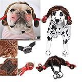 Nicedeal Pelucas para mascotas para perros, gatos, accesorios de ropa divertidos, tocados vestidos para mascotas (pelucas originales), artículos para mascotas, casas para mascotas