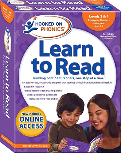 Hooked on Phonics Learn to Read Levels 3 & 4: Emergent Readers Kindergarten, Ages 4-6 por Hooked on Phonics