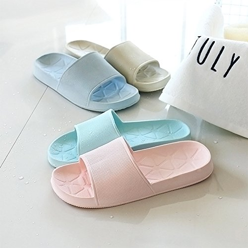 WILLIAM&KATE Unisexe Anti-Dérapage Maison Salle de Bain Pantoufle Couple Casual Sandales Douces Slip-On Pour Plage Piscine Spa en Plein Air Light Blue