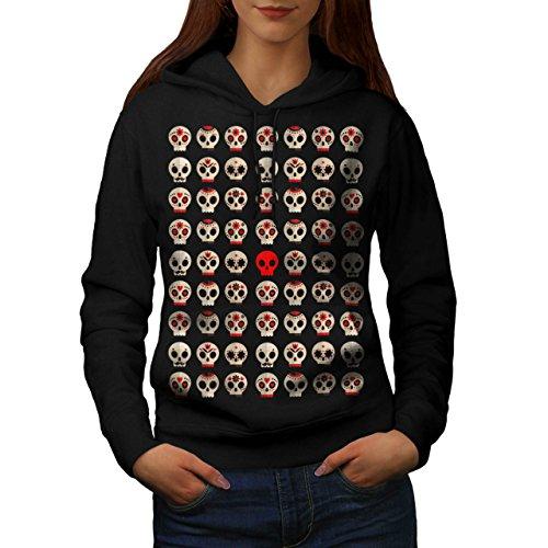 Skull Sugar Death Fashion Women M Kapuzenpullover | (Skull Womens Kostüme Sugar)