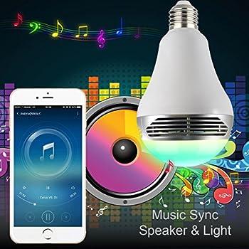 Magichue Neu Farbige Leuchtmittel Sunset Smart Led Bluetooth Lampe Dimmbar Sonnenuntergang E27 Und E26 16 Mio Farben Fuer Android Und Ios (6w Farben Lampe+3w Speaker) 11