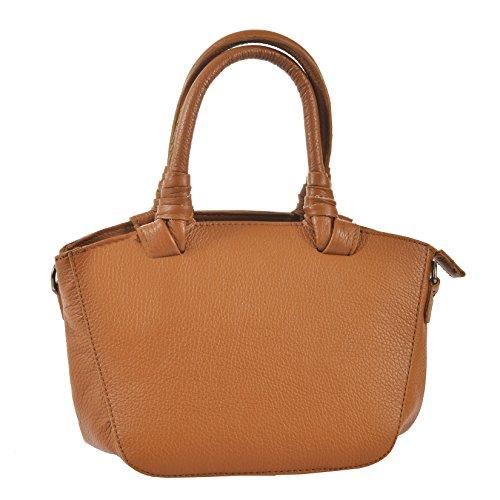CTM L'embrayage de la femme, petit sac à main en cuir véritable fabriquée en Italie avec bandoulière 24x18x14 Cm