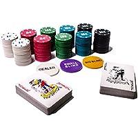 G-TOP Poker Set 200 Chips € inkl. 2X Pokerdecks 1 x Dealer Button Small Big Blind Buttons Poker Texas Holdem Pokerkoffer
