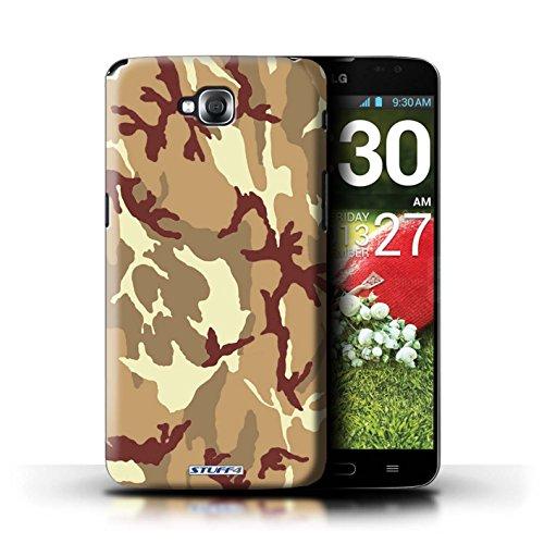 Kobalt® Imprimé Etui / Coque pour LG G Pro Lite/D680 / Blanc 2 conception / Série Armée/Camouflage Marron 4