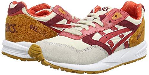Asics Gelsaga, Sneakers Basses Femme Blanc (off-white/red 0223)
