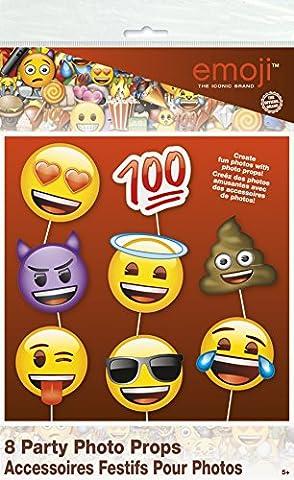 Emoji Party Supplies - Emoji Faces Photo Booth Props, 8pc