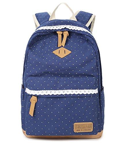Tibes Zaino Di Tela Zaino Ragazza Borsa Zaino Backpack Women Borsello Donna Schoolbag Zaino Per Pc Dreiteilig Cachi