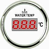 Jauge de température de l'eau numérique Mètre 40–120℃ 52mm 9–32V avec rétroéclairage