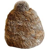 Gorros Gorro De Sombreros Gorras Calentar Cálido Unisex Beanie Dulce Estilo De Belleza De Invierno Más Terciopelo Frío Cálido Sombrero ZHANGGUOHUA (Color : Brown)