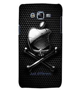 ColourCraft Funny Skull and Bone Design Back Case Cover for SAMSUNG GALAXY J5