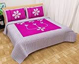 #2: Pridhi 144 TC Patch Work Cotton Double Bedsheets with 2 Pillow Covers - Mazenta