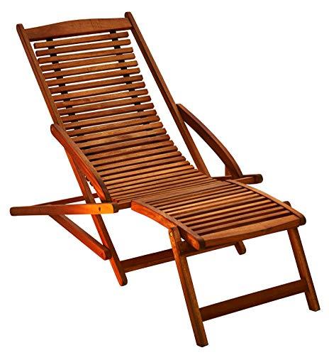 SAM Gartenliege Fuki aus Akazie, Sonnenliege aus Holz, FSC 100% zertifizierter Liegestuhl, Deckchair...