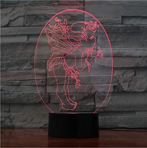 3D Led Nachttischlampen 7 Farben Amor Liebhaber Geschenk Licht Schreibtisch Tisch Halloween Dekoration Geschenk Kind Abschlussfeiertag Usb Ändern Lava Lampe