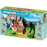 PLAYMOBIL 5519 - Friese mit braun/beiger Pferdebox