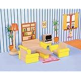 Woodyland Juego de imaginación Doll House Accesorios Living Room Set (7 piezas)