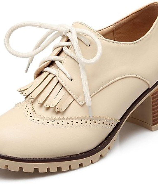 ZQ Zapatos de mujer-Tac¨®n Robusto-Tacones / Plataforma / Punta Redonda-Tacones-Oficina y Trabajo / Fiesta y Noche...