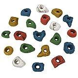 ALPIDEX 20 Klettergriffe Größe S - als Tritte oder zum Greifen für fortgeschrittene Kletterer, Farbe:bunt