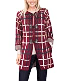 edc by ESPRIT Damen Strickjacke 096CC1I020, Rot (Bordeaux Red 600), 38 (Herstellergröße: M)