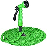 RRJ 50 Ft Expandable Hose Pipe Nozzle For Garden Wash Car Bike With Spray Gun And 7 Adjustable Modes