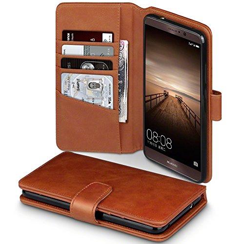Mate 9 Case, Terrapin [ECHT LEDER] Brieftasche Case Hülle mit Kartenfächer und Bargeld für Huawei Mate 9 Hülle Cognac