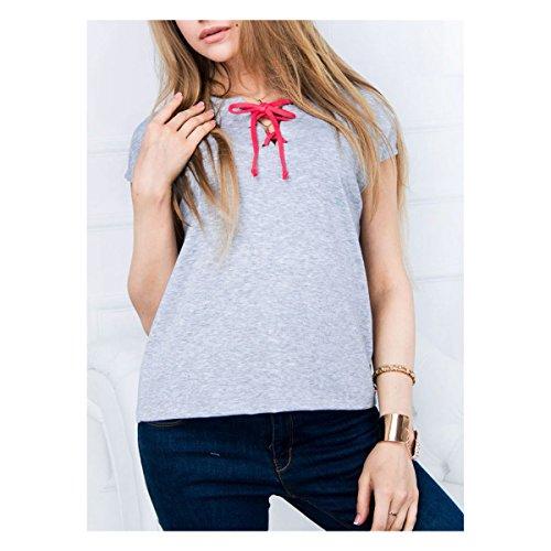 Damen Short-Sleeve Shirt - grau Grau