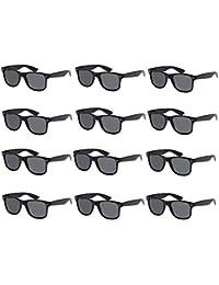 12-PACK Black Frame Smoke Lens Vintage Sunglasses