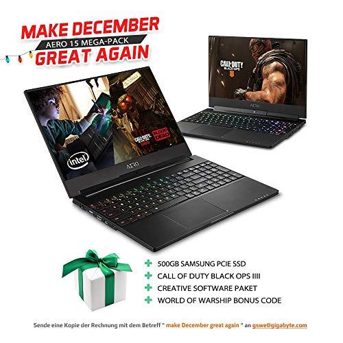 GIGABYTE Aero 15Xv8 (Aero15Xv8-DE425PB) 60Hz UHD Display, Intel Core i7 8750H, Nvidia GeForce GTX1070 Max-Q + Aero 15X Mega-Pack
