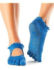 Toesox Bella de la mujer Full Toe Grip antideslizante para yoga, pilates, Barre, Ballet para dedo del pie calcetines, 40,5-42,5 EU Hombres -, 39,5-41,5 EU Mujer), Pool