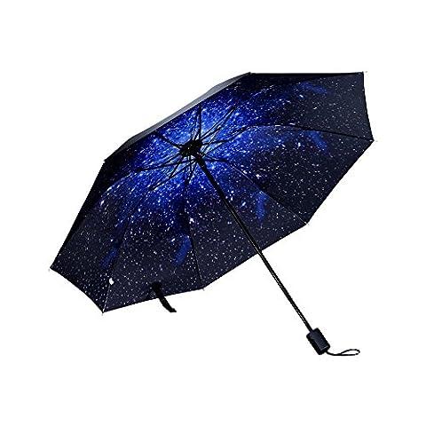 WILLIAM&KATE Travel Windproof Automatic Creative Three Fold Sunny UV Umbrella Outdoor Use