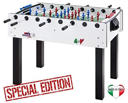 Roberto Sport Calciobalilla Match 2.0 Special Edition biliardino + Palline + Spray lubrificante
