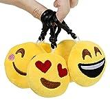 Cusfull Mini Emoji Keychain Lovely Emoji Plush Pillows Emoticon Key Ring Soft Party Bag Filler Toy Gift for Kids (20 pack) Bild 5