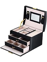 DCCN Jewellery Box Estuche de cosméticos Caja de Almacenamiento de joyería de Cuero de PU de