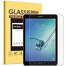 SPARIN Protector de Pantalla Galaxy Tab S3 9.7, Cristal Templado Para Samsung Galaxy Tab S3/S2 9.7, con [2.5D Borde Redondeado] [9H Dureza] [Alta Transparencia] [Sin Burbujas]