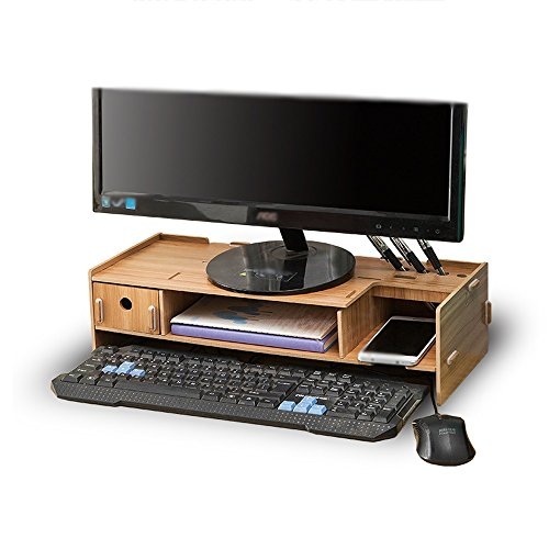 Unbekannt Support Büro-Computer LCD-Monitor Erhöhte Desktop-Schublade Regal Größe 48 * 20 * 11.5cm A++ (Farbe : 2#)