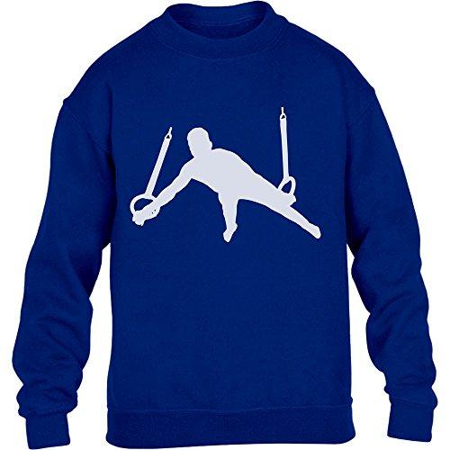 Männer Turner Silhuette Fanartikel Geschenk Kinder Pullover Sweatshirt X-Large Blau