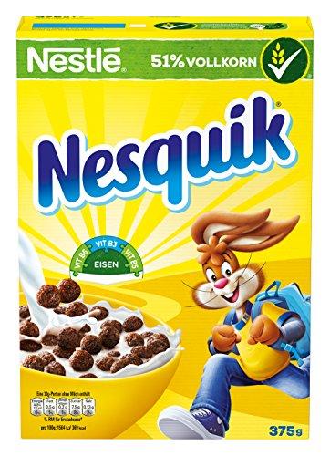 Nestlé Nesquik Knusper-Frühstück, Schoko Cerealien mit Vollkorn, 6er Pack (6 x 375 g)
