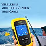 #9: HITSAN INCORPORATION Lucky FFC1108-1 Portable Sonar Deeper Fish Finder 100M Fishing Alarm Waterproof Fishfinder TN/Anti-UV LCD Color Display RU EN