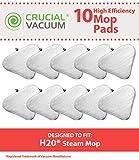 10Ersatz für Mikrofaser H2O Steam Pads Passform Ti & Steamboy Dampfreiniger, Waschbar und Wiederverwendbar, von Think Crucial