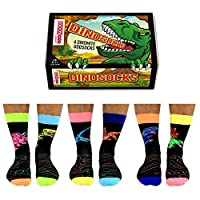 Dinosocks - United Oddsocks - 6 Oddsocks for Men UK 6-11 EUR 39-46 US 7-12