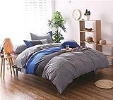 HTST Einfache Gestreiften bettwäsche Polyester Schlafzimmer flachblech Nicht verblassen Bettbezüge Geschenk 3 stücke, 004, 200x200cm