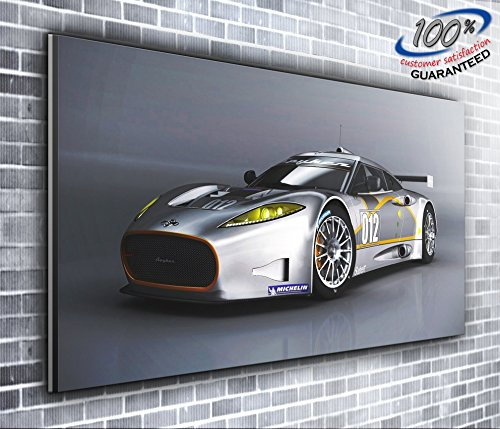 spyker-c8aileron-gt-racer-supercar-panoramica-stampa-su-tela-xxl-immagine-127x-508cm-over-12m-larghe