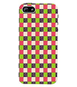 PrintVisa Corporate Print & Pattern Square 3D Hard Polycarbonate Designer Back Case Cover for Apple iPhone 5 :: 5S