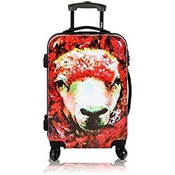 Maleta de cabina Equipaje de mano 55x40x20 TOKYOTO LUGGAGE Maleta de viaje Rígida RED SHEEP