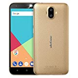 Ulefone S7 Smartphone Libres Baratos Android 7.0, 5 Pulgadas Pantalla, Cámara Triple 8MP+5MP+5MP, Quad Core MTK 6580 1.3GHz, 1GB RAM+8GB ROM, Batería 2500mAh, Doble SIM 3G Teléfono Móvil (Oro)
