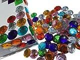 CRYSTAL KING 100 Stück 16mm große runde Selbstklebende Strass-Steine Glitzersteine bunt Acrylksteine Dekosteine basteln für Kinder